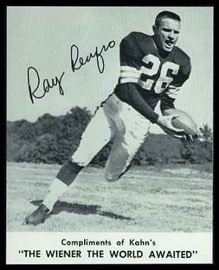Ray Renfro 1961 Kahns football card