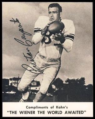 Preston Carpenter 1961 Kahns football card