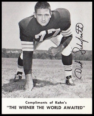 Dick Schafrath 1961 Kahns football card