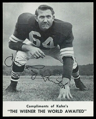 Jim Ray Smith 1961 Kahns football card