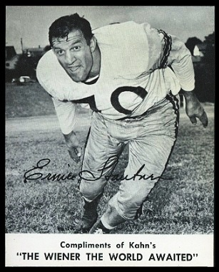 Ernie Stautner 1961 Kahns football card