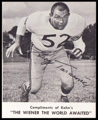 George Tarasovic 1961 Kahns football card