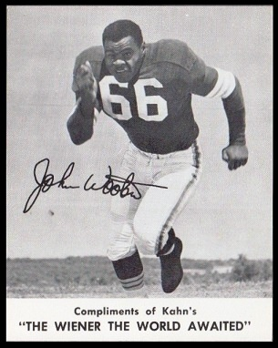 John Wooten 1961 Kahns football card