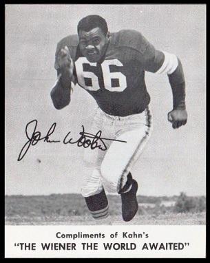 John Wooten 1961 Kahns football card