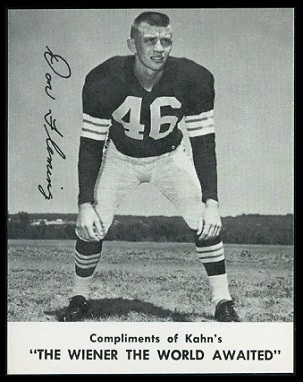 Don Fleming 1961 Kahns football card