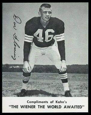 Don Fleming 1961 Kahns football card