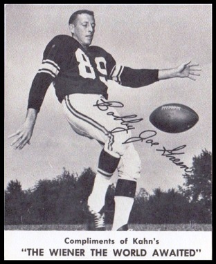 Bobby Joe Green 1961 Kahns football card