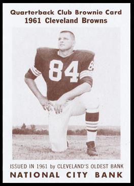 Paul Wiggin 1961 National City Bank Browns football card