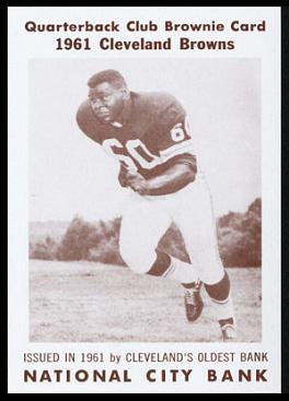 John Wooten 1961 National City Bank Browns football card