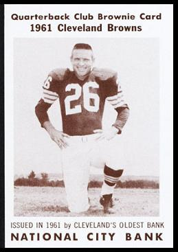 Ray Renfro 1961 National City Bank Browns football card