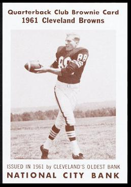 Rich Kreitling 1961 National City Bank Browns football card