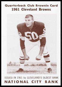 Vince Costello 1961 National City Bank Browns football card
