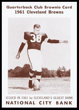 Sam Baker 1961 National City Bank Browns football card