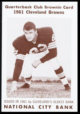 Jim Houston 1961 National City Bank Browns football card