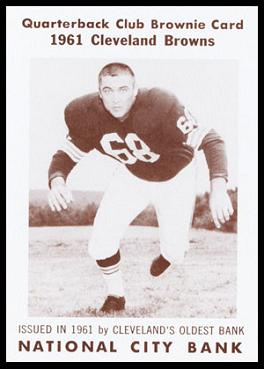 Larry Stephens 1961 National City Bank Browns football card
