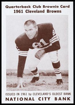 Leon Clarke 1961 National City Bank Browns football card