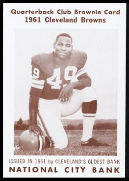 Bobby Mitchell 1961 National City Bank Browns football card