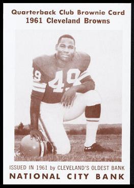 Bobby Mitchell 1961 National City Bank Browns football card