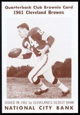 Bobby Franklin 1961 National City Bank Browns football card