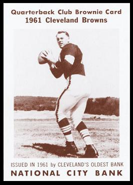 Milt Plum 1961 National City Bank Browns football card
