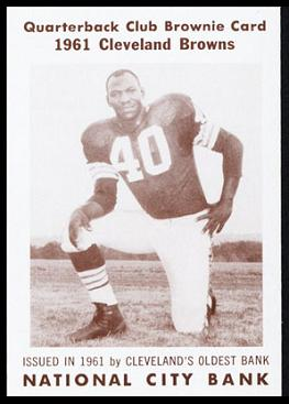 Preston Powell 1961 National City Bank Browns football card