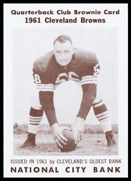 John Morrow 1961 National City Bank Browns football card