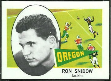 Ron Snidow 1961 Nu-Card football card