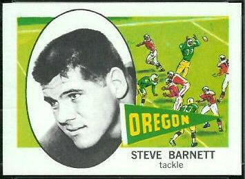 Steve Barnett 1961 Nu-Card football card