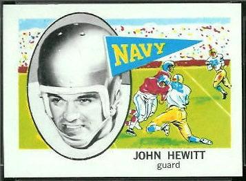 John Hewitt 1961 Nu-Card football card