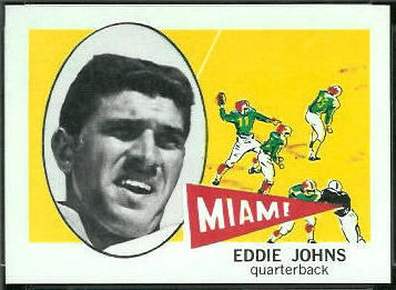 Eddie Johns 1961 Nu-Card football card
