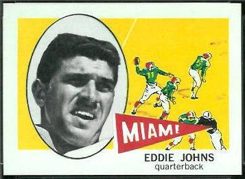Eddie Johns 1961 Nu-Card football card