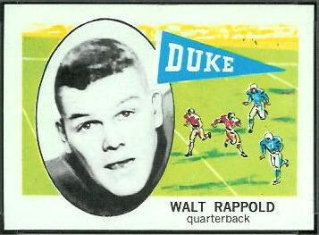 Walt Rappold 1961 Nu-Card football card