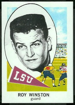 Roy Winston 1961 Nu-Card football card