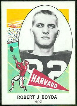 Bob Boyda 1961 Nu-Card football card