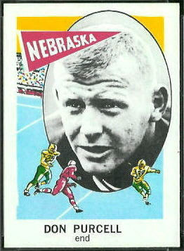 Don Purcell 1961 Nu-Card football card
