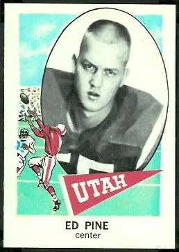 Ed Pine 1961 Nu-Card football card