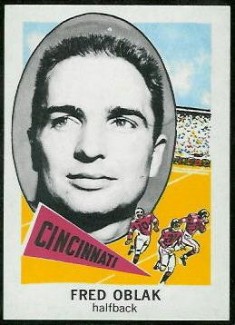 Fred Oblak 1961 Nu-Card football card