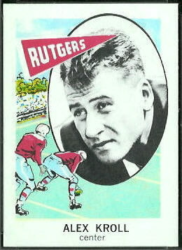 Alex Kroll 1961 Nu-Card football card
