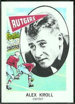 Alex Kroll 1961 Nu-Card football card