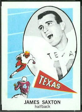 Jimmy Saxton 1961 Nu-Card football card