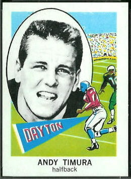 Andy Timura 1961 Nu-Card football card