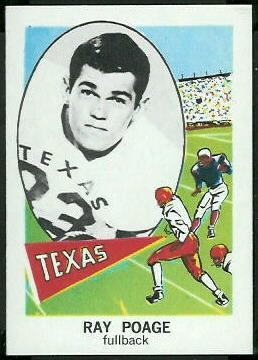 Ray Poage 1961 Nu-Card football card