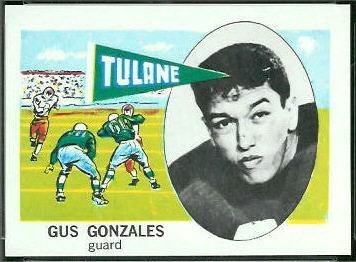 Gus Gonzales 1961 Nu-Card football card