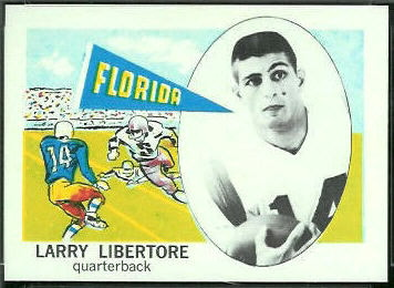 Larry Libertore 1961 Nu-Card football card