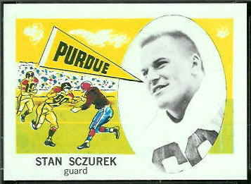 Stan Sczurek 1961 Nu-Card football card