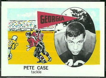 Pete Case 1961 Nu-Card football card