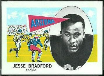 Jesse Bradford 1961 Nu-Card football card