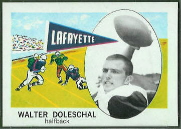 Walter Doleschal 1961 Nu-Card football card