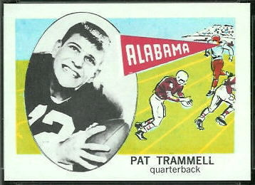 Pat Trammell 1961 Nu-Card football card