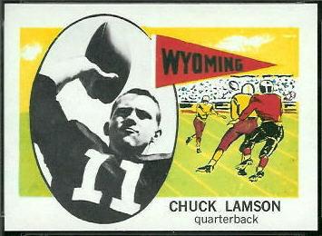Chuck Lamson 1961 Nu-Card football card